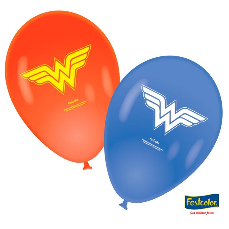 Balão Nº9 Mulher Maravilha - Pacote C/25un.