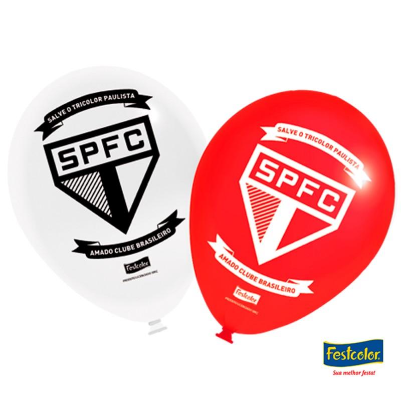 Balão Nº9 • São Paulo FC • 25un. • Festcolor