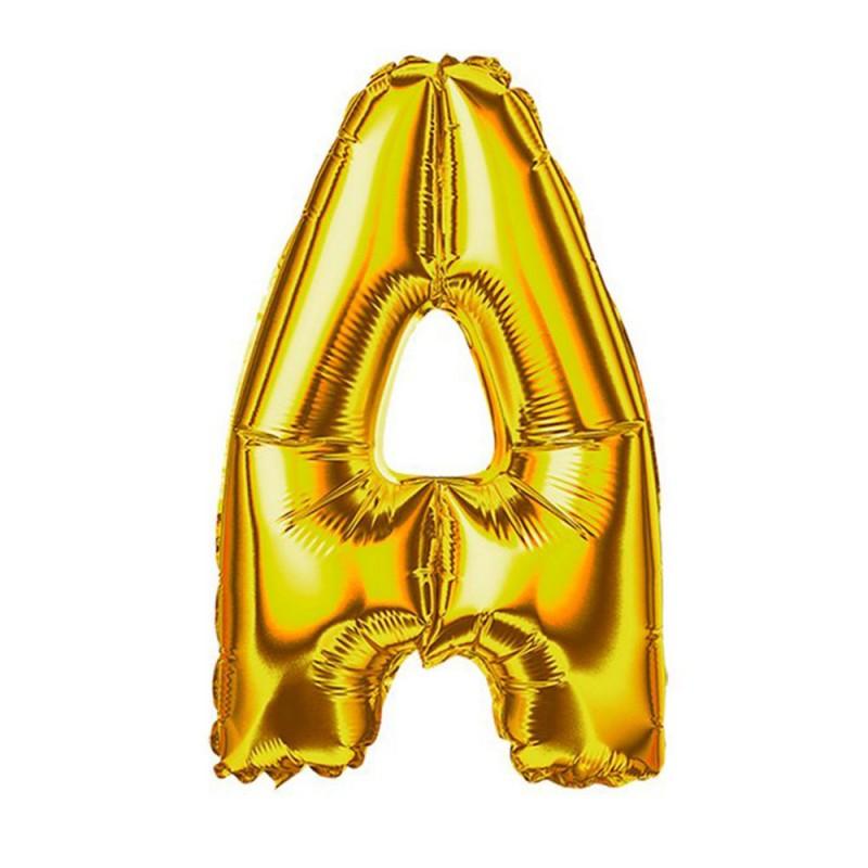 """Balão Letra Metalizada • 40"""" 100cm • Dourado • A"""