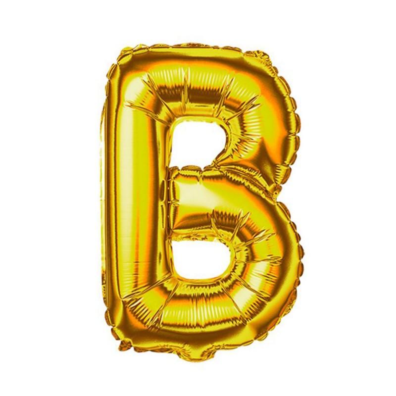 """Balão Letra Metalizada • 40"""" 100cm • Dourado • B"""