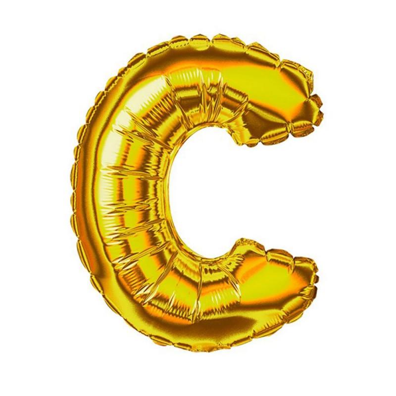 """Balão Letra Metalizada • 40"""" 100cm • Dourado • C"""