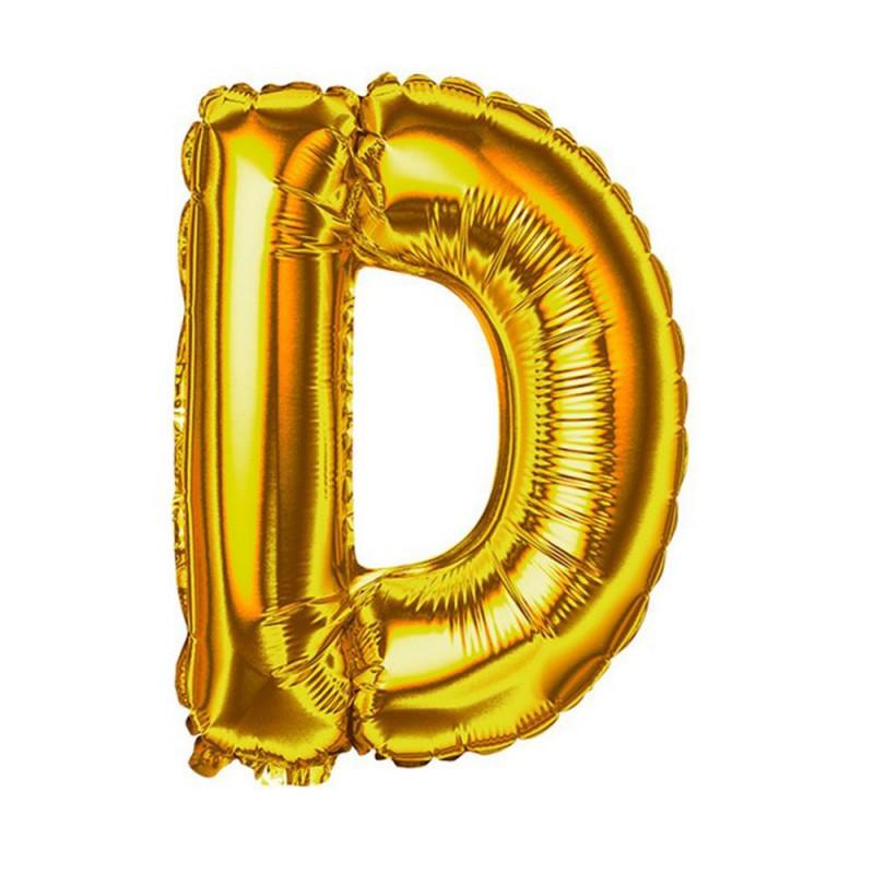 """Balão Letra Metalizada • 40"""" 100cm • Dourado • D"""