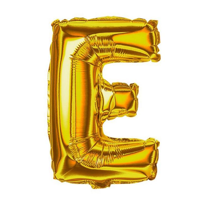 """Balão Letra Metalizada • 40"""" 100cm • Dourado • E"""