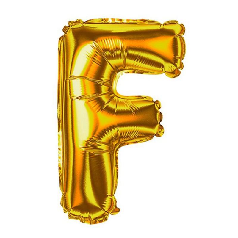 """Balão Letra Metalizada • 40"""" 100cm • Dourado • F"""