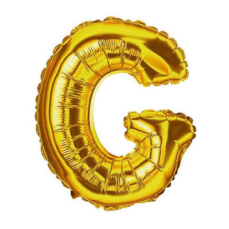 """Balão Letra Metalizada • 40"""" 100cm • Dourado • G"""