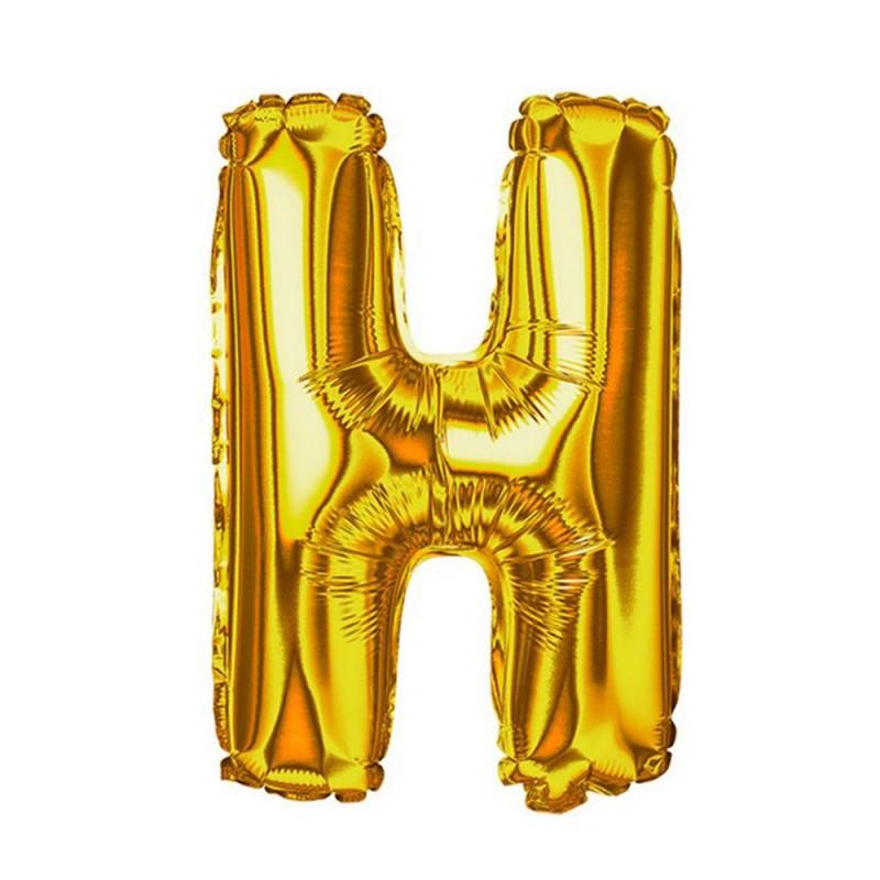 """Balão Letra Metalizada • 40"""" 100cm • Dourado • H"""