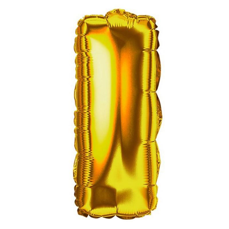 """Balão Letra Metalizada • 40"""" 100cm • Dourado • I"""