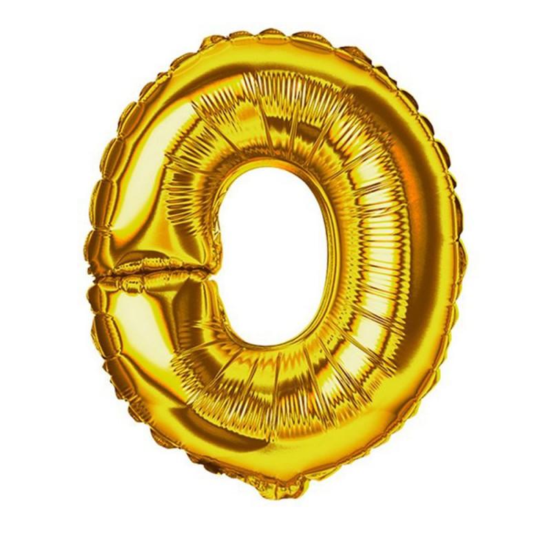 """Balão Letra Metalizada • 40"""" 100cm • Dourado • O"""