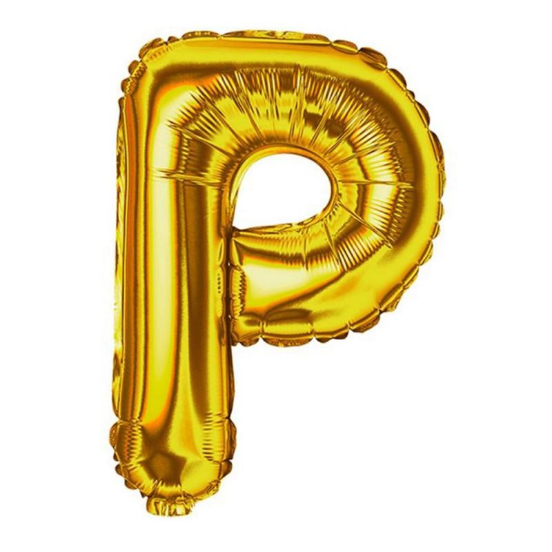 """Balão Letra Metalizada • 40"""" 100cm • Dourado • P"""