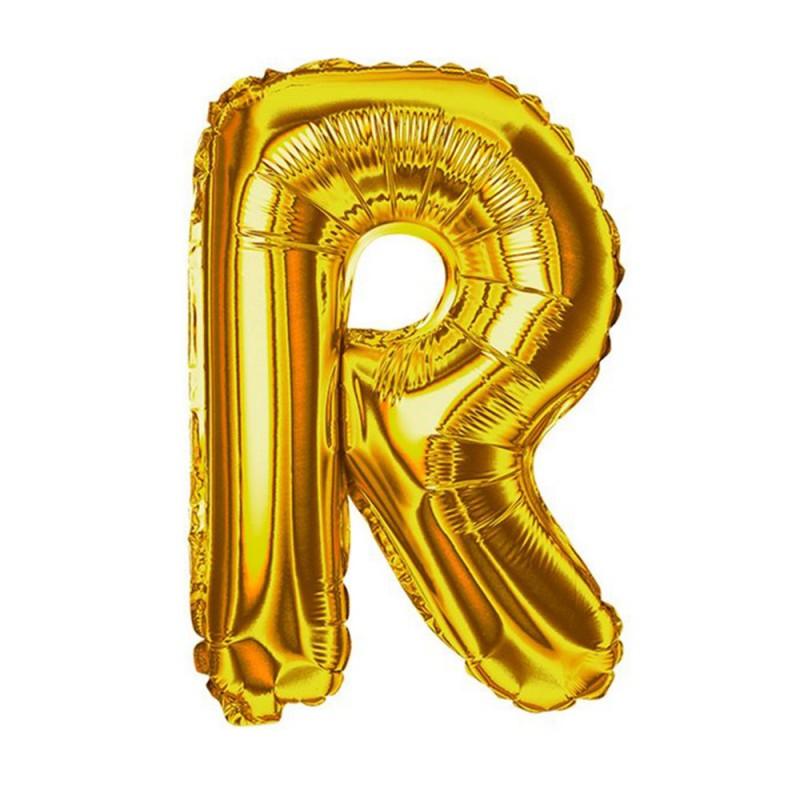 """Balão Letra Metalizada • 40"""" 100cm • Dourado • R"""