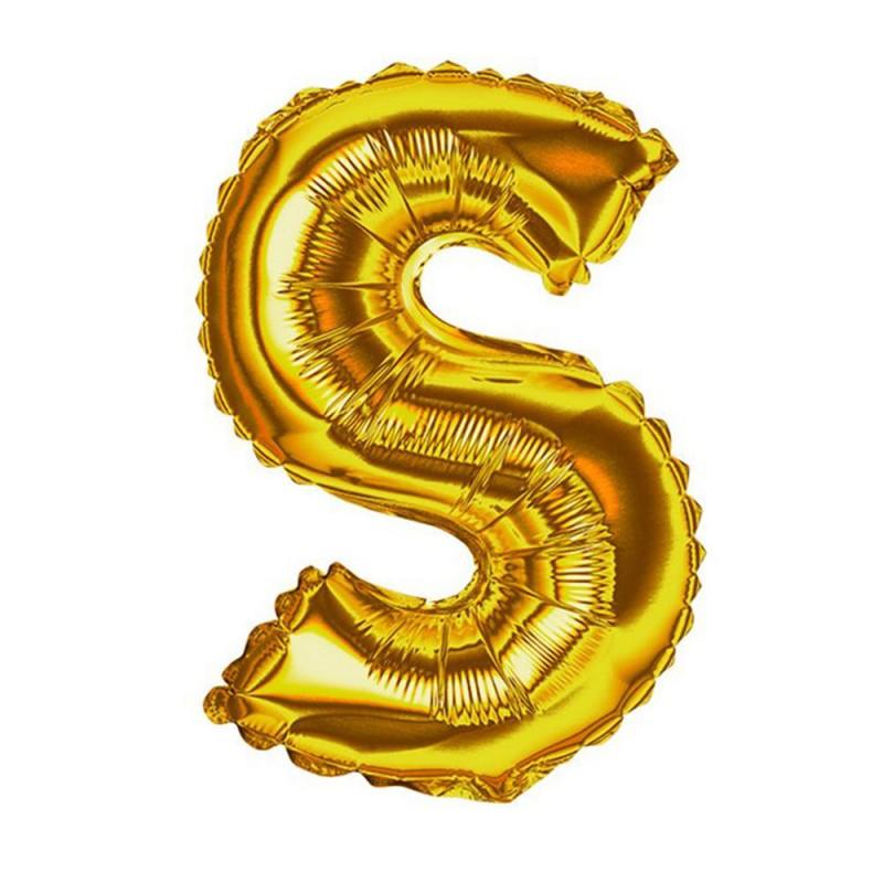 """Balão Letra Metalizada • 40"""" 100cm • Dourado • S"""