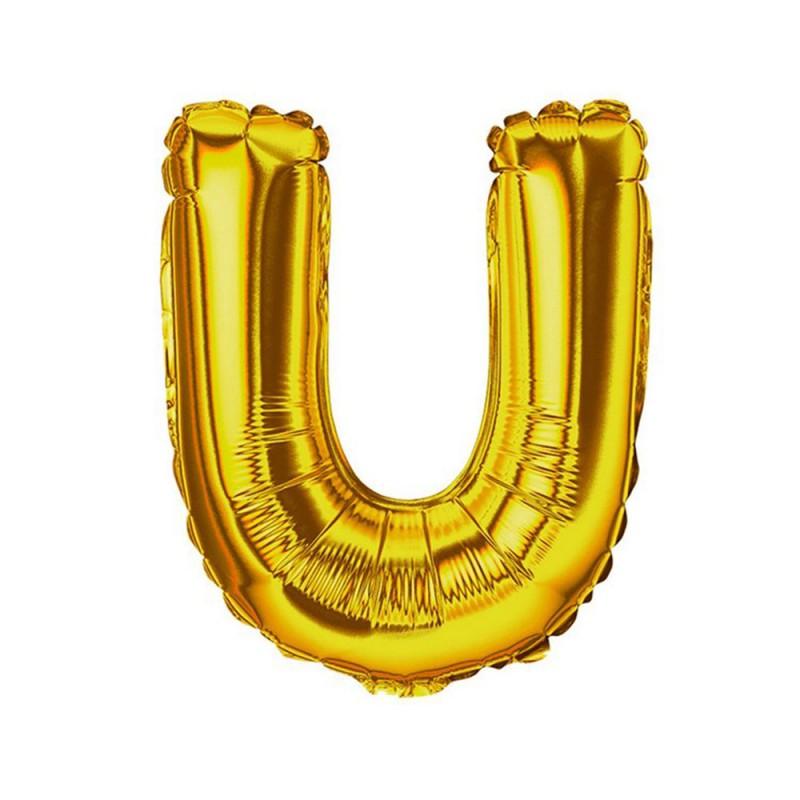 """Balão Letra Metalizada • 40"""" 100cm • Dourado • U"""