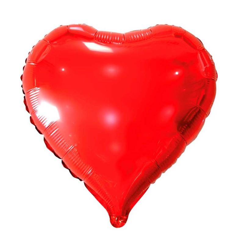 Balão Coração Vermelho • Foil