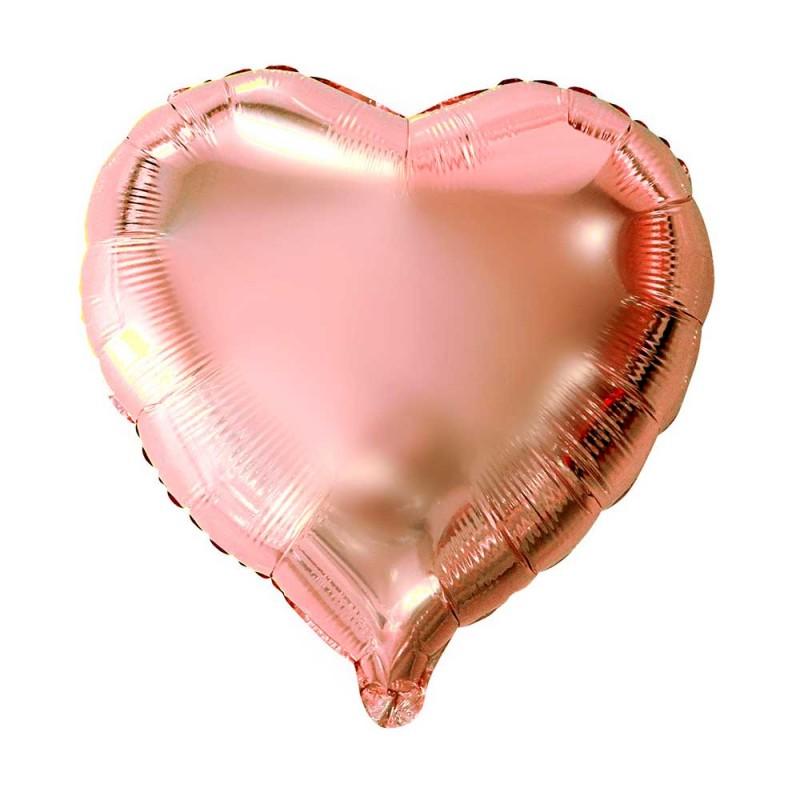 Balão Coração Rose • Foil