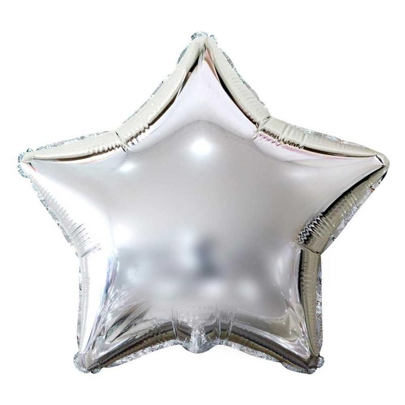 Balão Estrela Prata • Foil