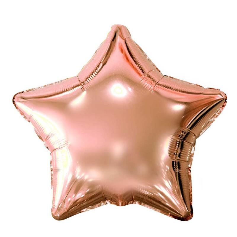 Balão Estrela Rose • Foil