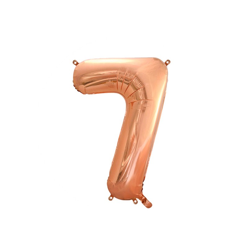 Balão Número Metalizado • Grande • Rose Gold • 7