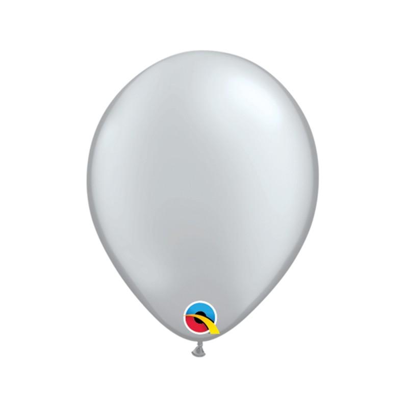 Balão Prata Nº5 • 100 un.• Qualatex