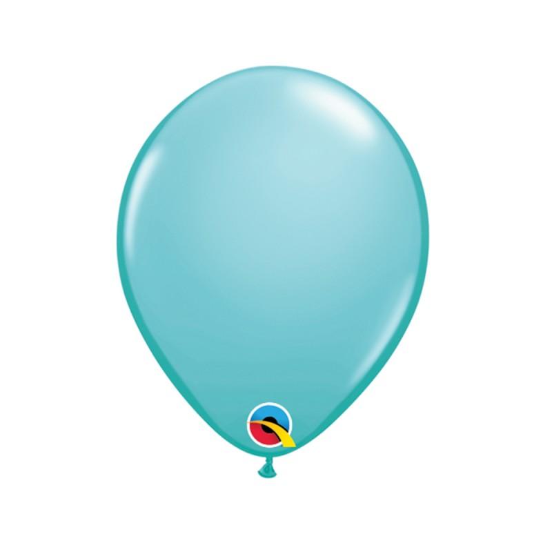 Balão Azul Caribbean  Nº5 • 100 un. • Qualatex