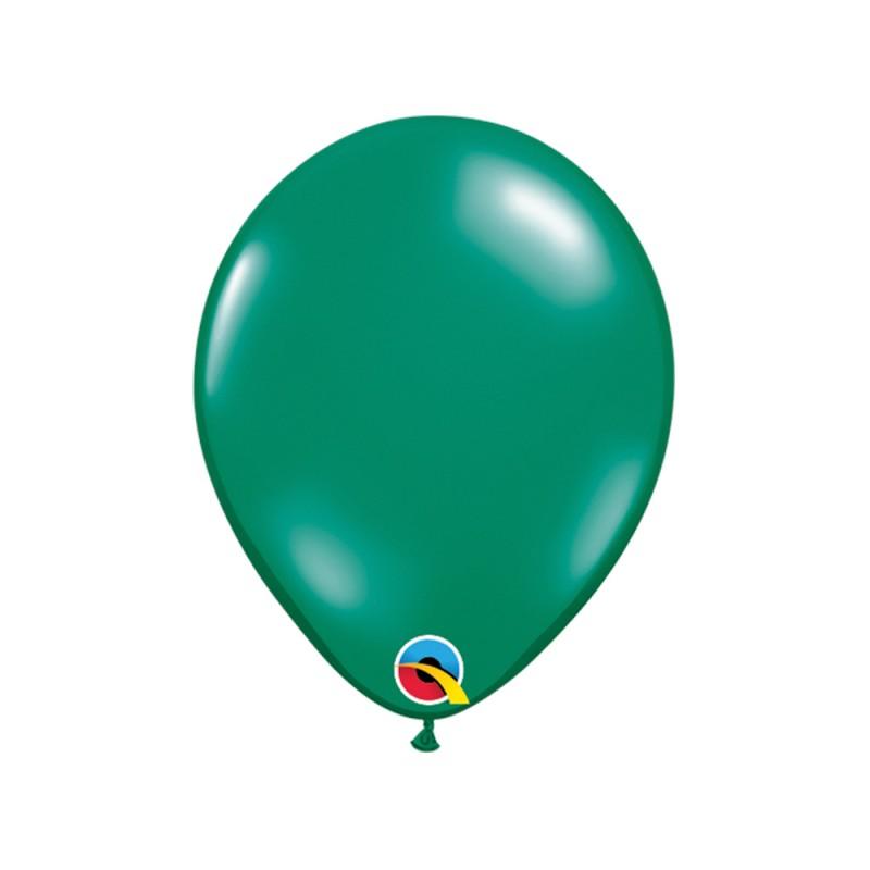 Balão Verde Esmeralda Pérola Nº5 • 100 un.• Qualatex