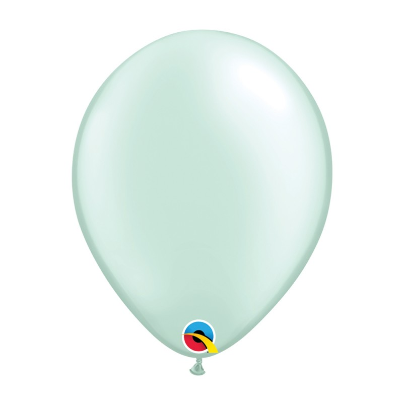 Balão Verde Menta Pérola Nº11 • 25 un.• Qualatex