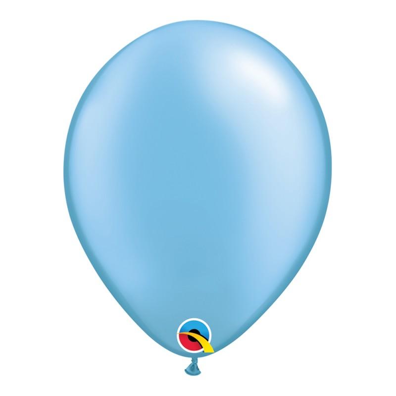 Balão Azul Claro Nº11 • 25 un.• Qualatex