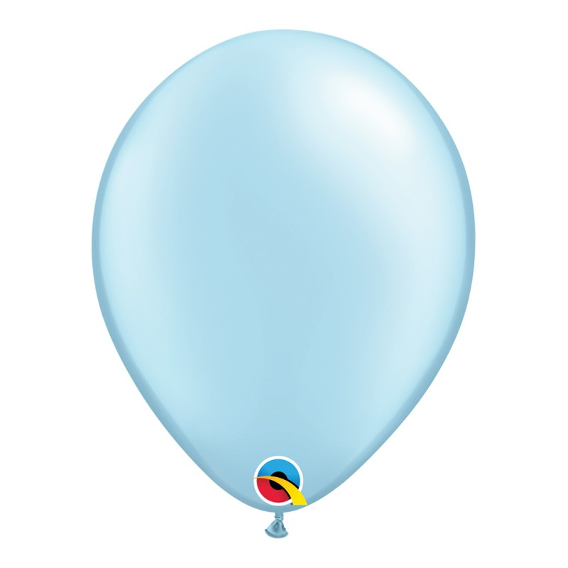 Balão Azul Claro Pérola Nº11 • 25 un.• Qualatex