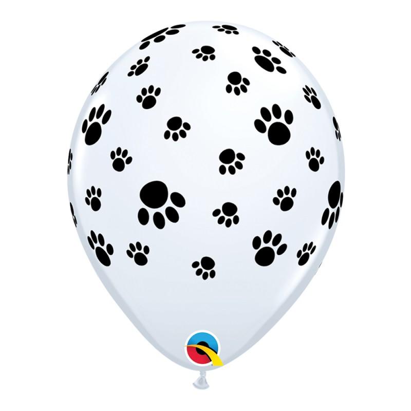 Balão Branco com Patinhas • Nº11 • 50 un.