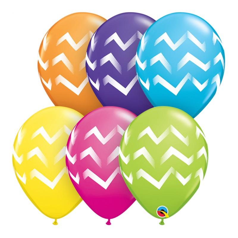 Balão Sortido Chevron Listras Nº11 - Pacote com 50 unidades