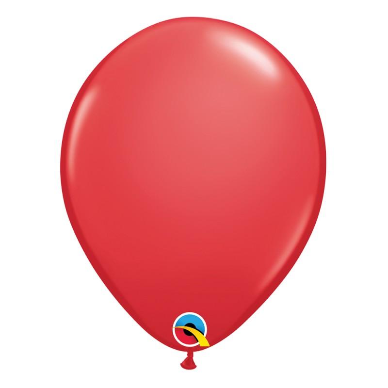 Balão Vermelho Nº11 • 25 un.• Qualatex