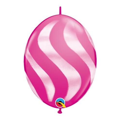 Balão Vermelho Ondas Quicklink • 50 un.• Qualatex