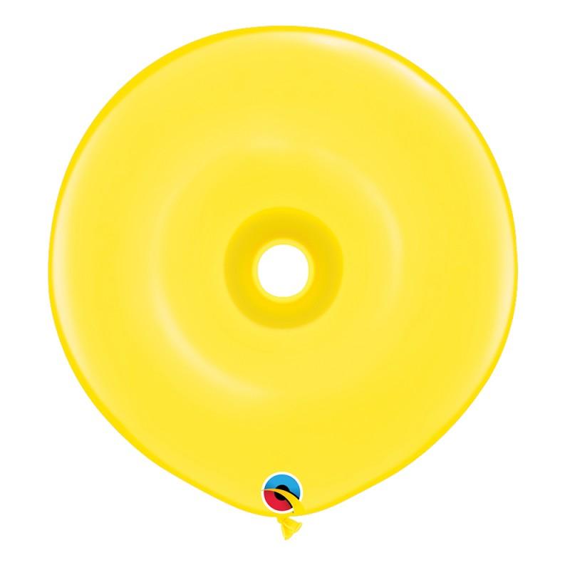 Balão Donut Amarelo • 25 un.• Qualatex
