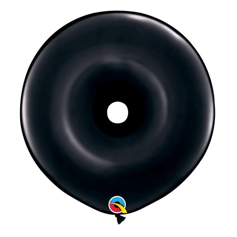 Balão Donut Preto Onix • 25 un.• Qualatex
