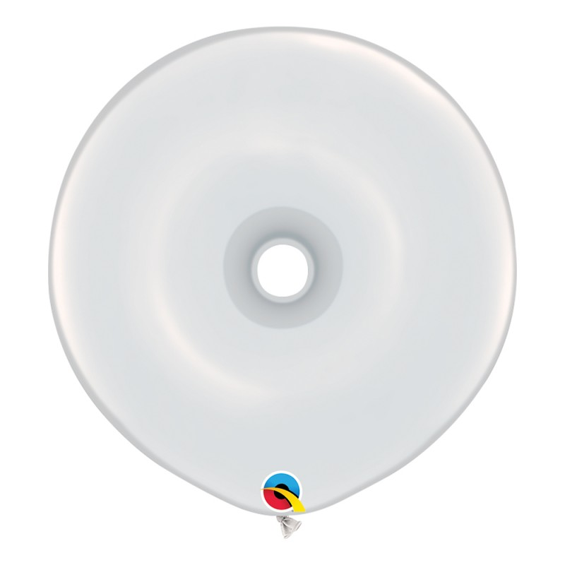 Balão Donut Branco • 25 un.• Qualatex