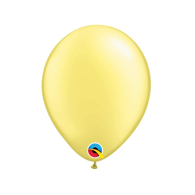 Balão Amarelo Lemon Chiffon Pérola Nº5 • 100 un. • Qualatex