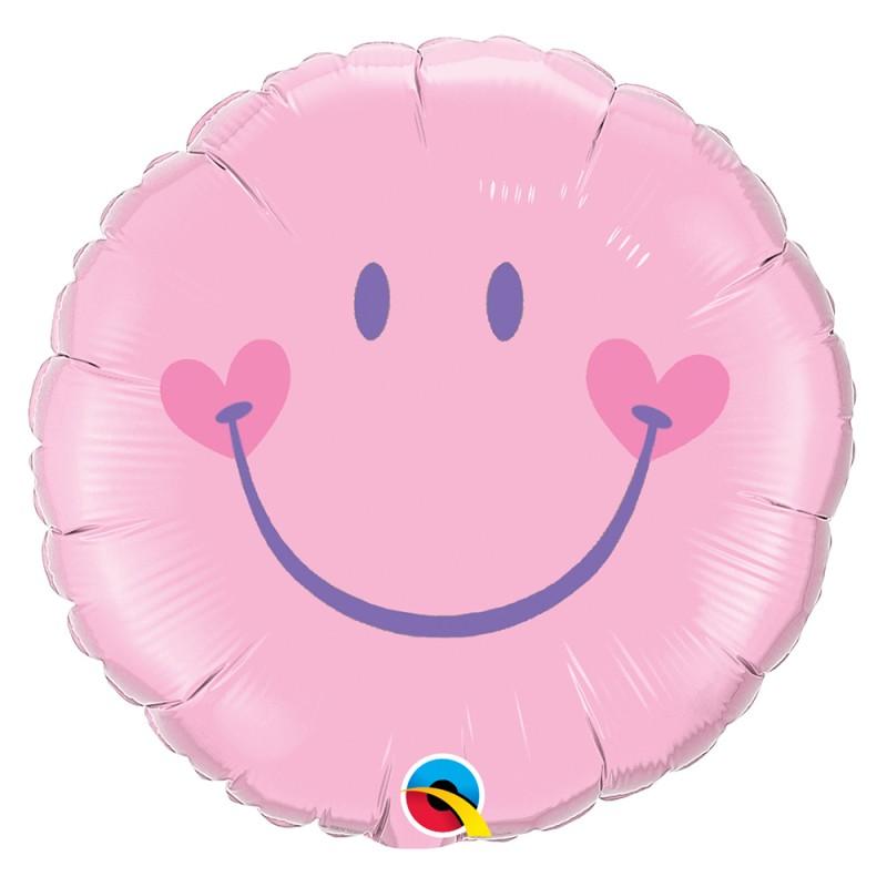 Balão Sorriso Rosa • Foil • Qualatex