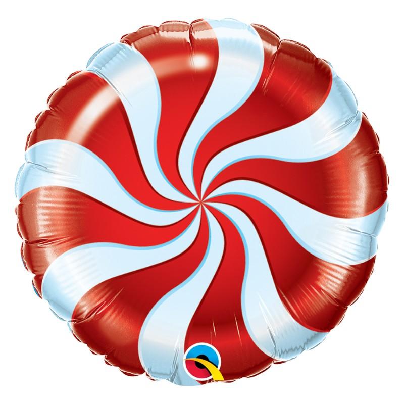 Balão Bala Vermelha • foil • Qualatex