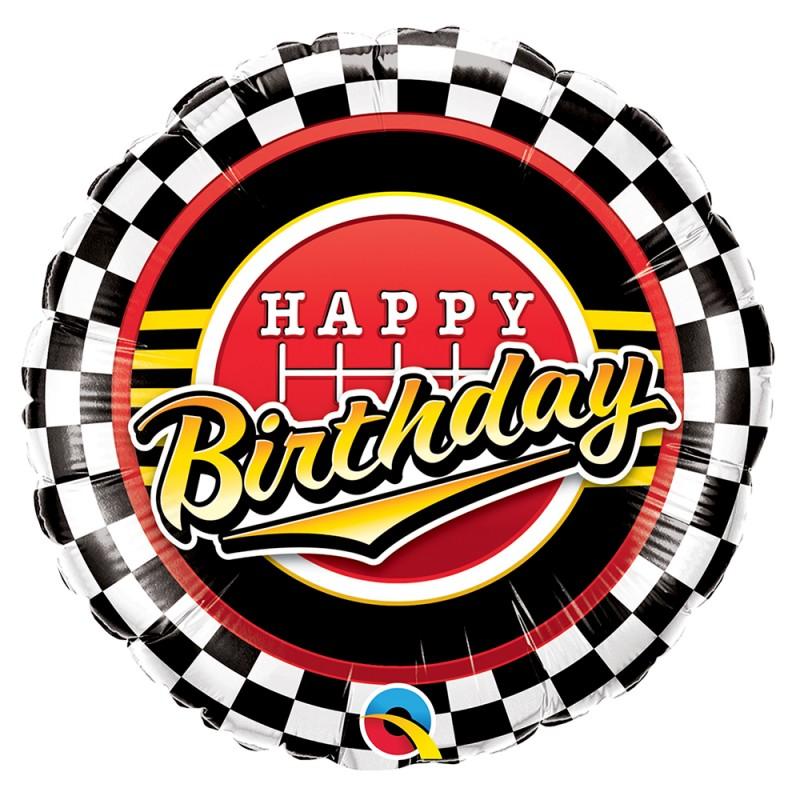 Balão Happy Birthday • Corrida • Foil • Qualatex