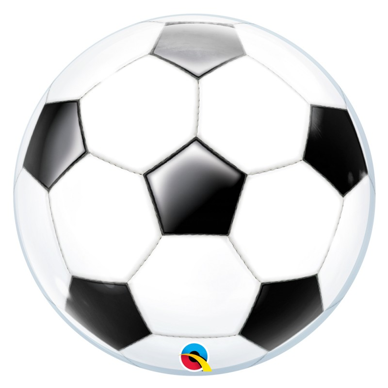 Balão Bola de Futebol • Bubble • Qualatex