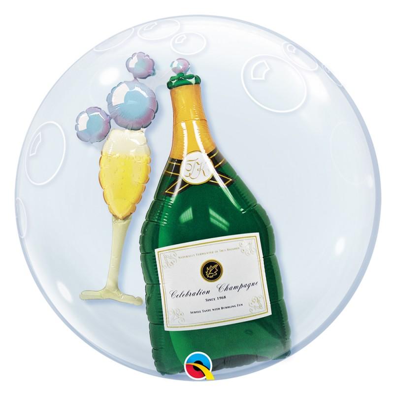 Balão Redondo Champagne • DoubleBubble • Qualatex