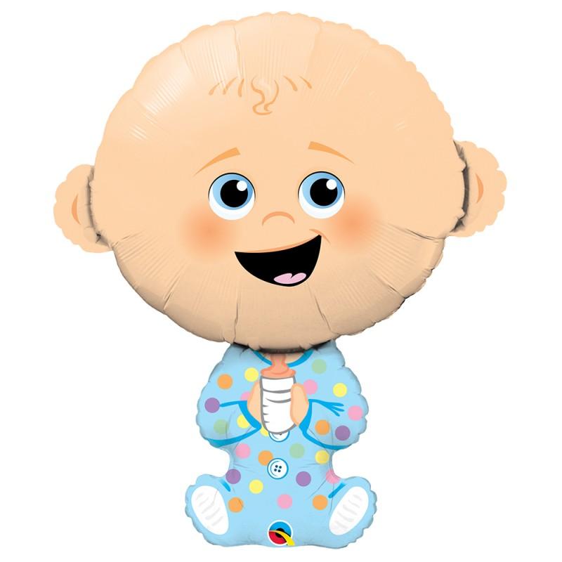 Balão Baby Menino • Super Shape • Qualatex