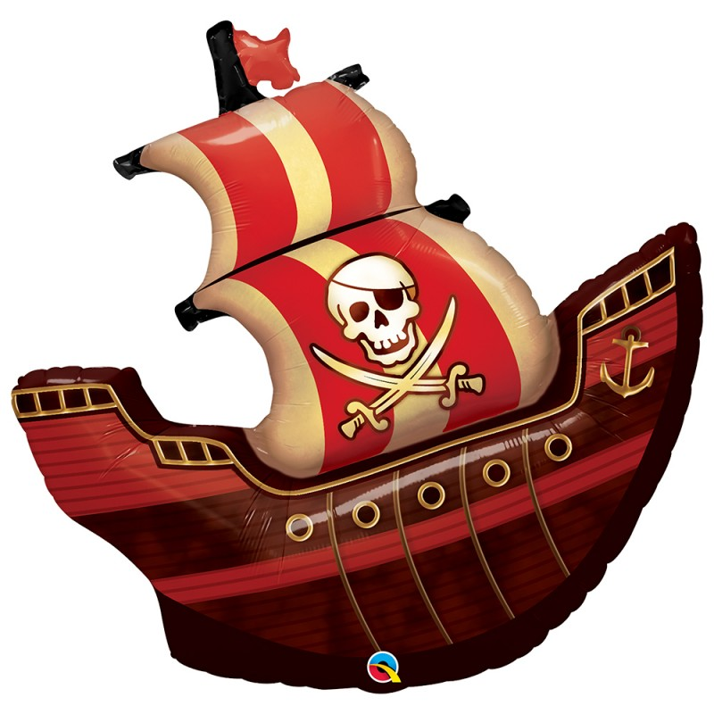 Balão Barco Pirata • Super Shape • Qualatex
