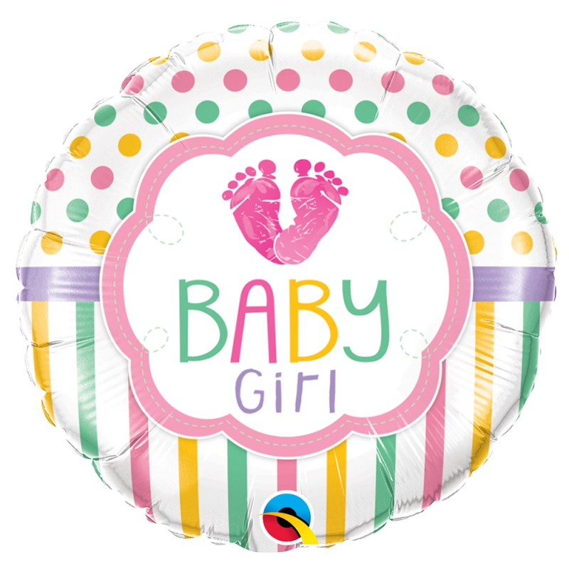 Balões Metalizados • Baby Girl|Boy • Qualatex