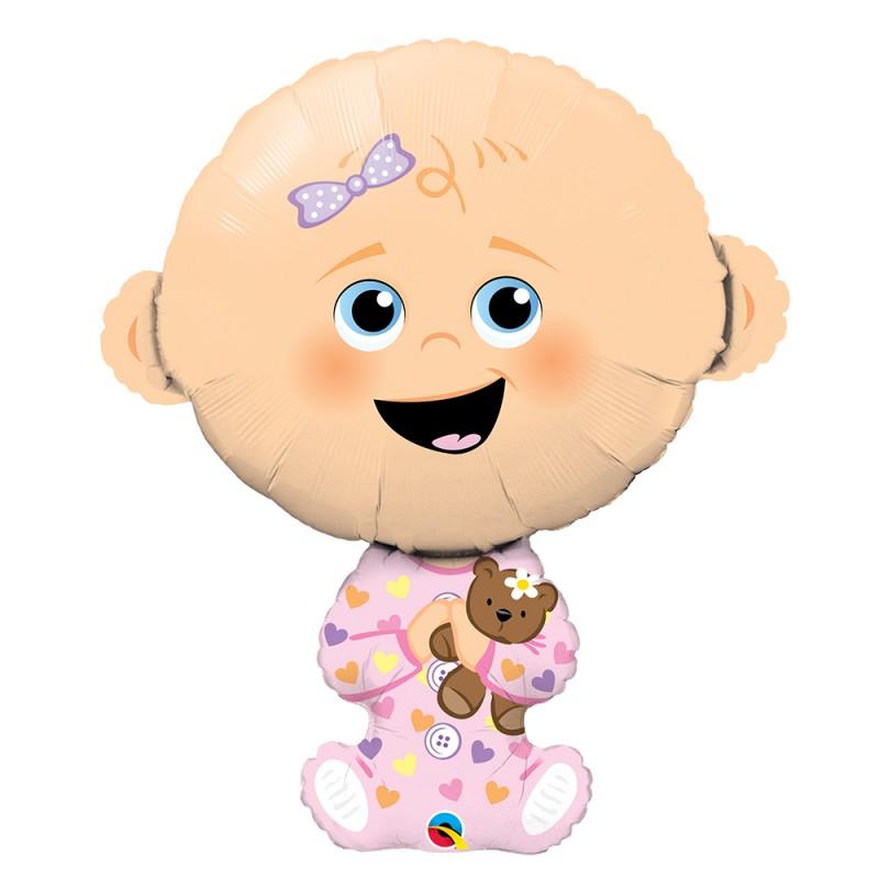 Balão Baby Menina • Super Shape • Qualatex