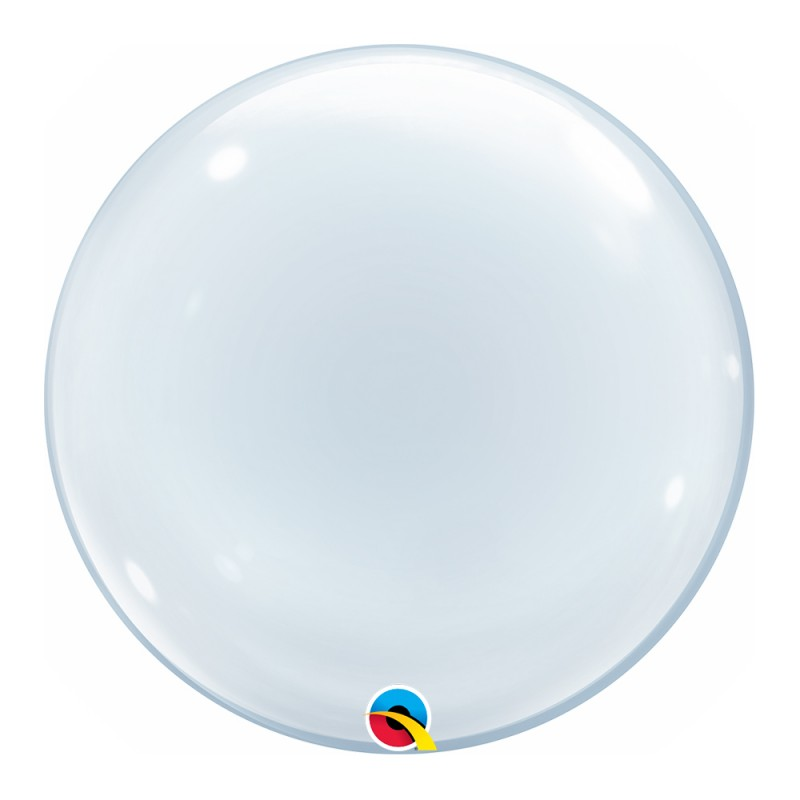 "Balão Deco Transparente 20"" • Bubble • Qualatex"