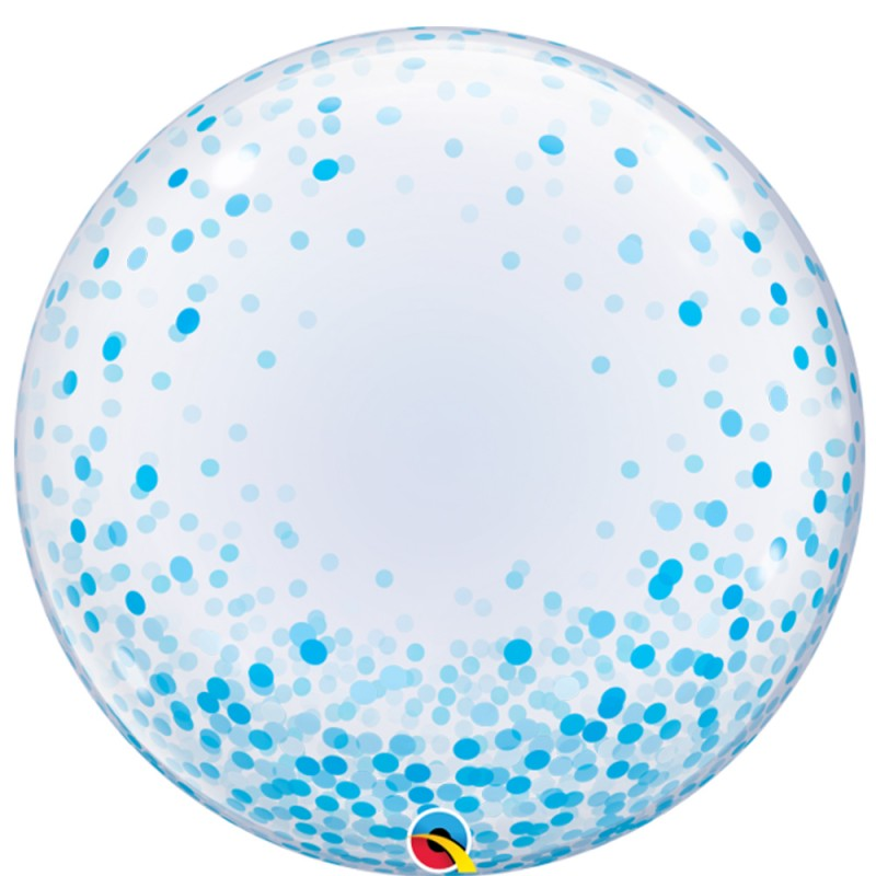 Balão Deco Confete Azul • Bubble • Qualatex