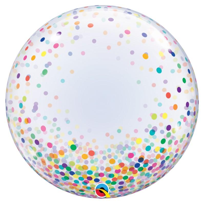 Balão Deco Confete Colorido • Bubble • Qualatex