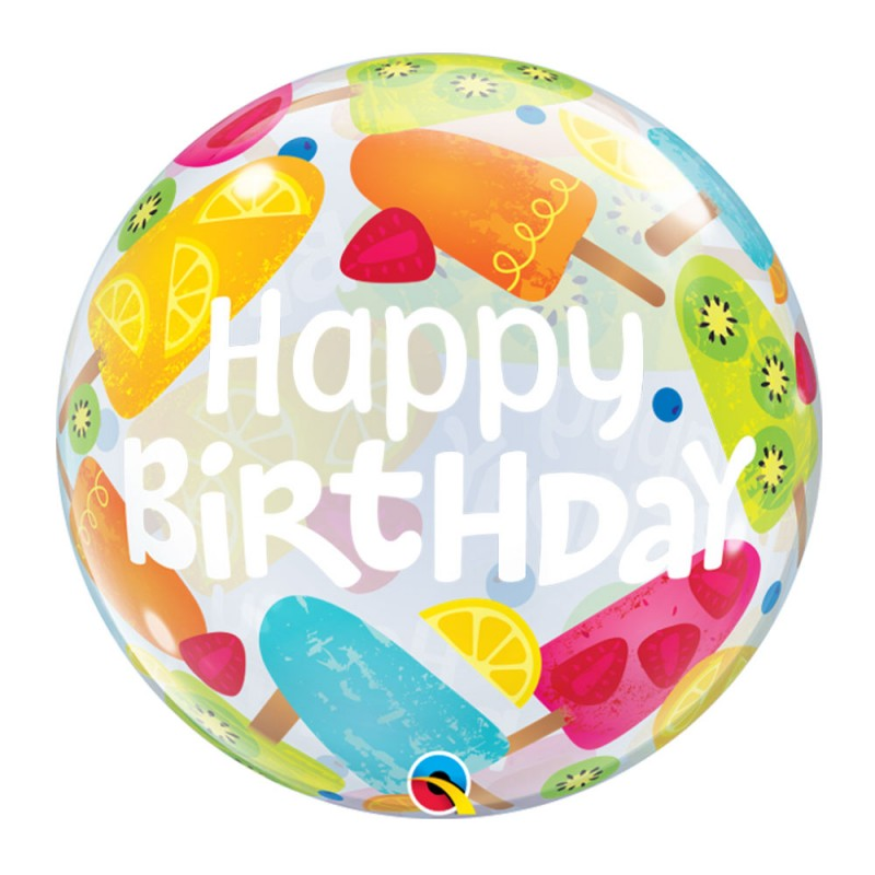 Balão Happy Birthday Tropical - Bubbles