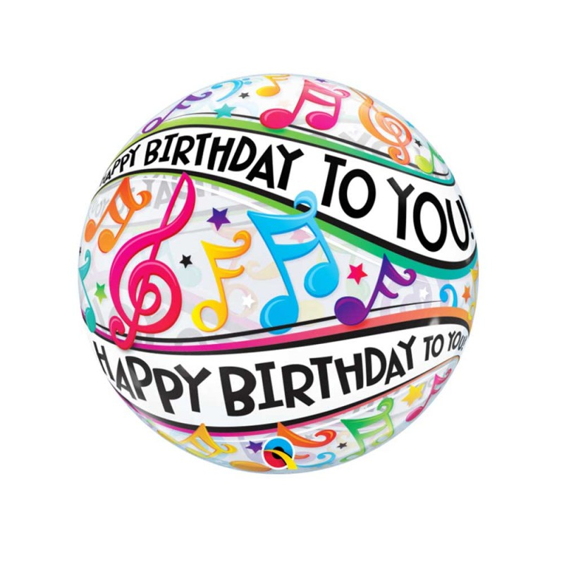 Balão  Happy Birthday to You • Notas Musicais - Bubbles
