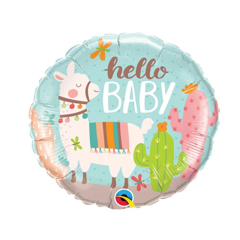 Balão Hello Baby • Foil • Qualatex